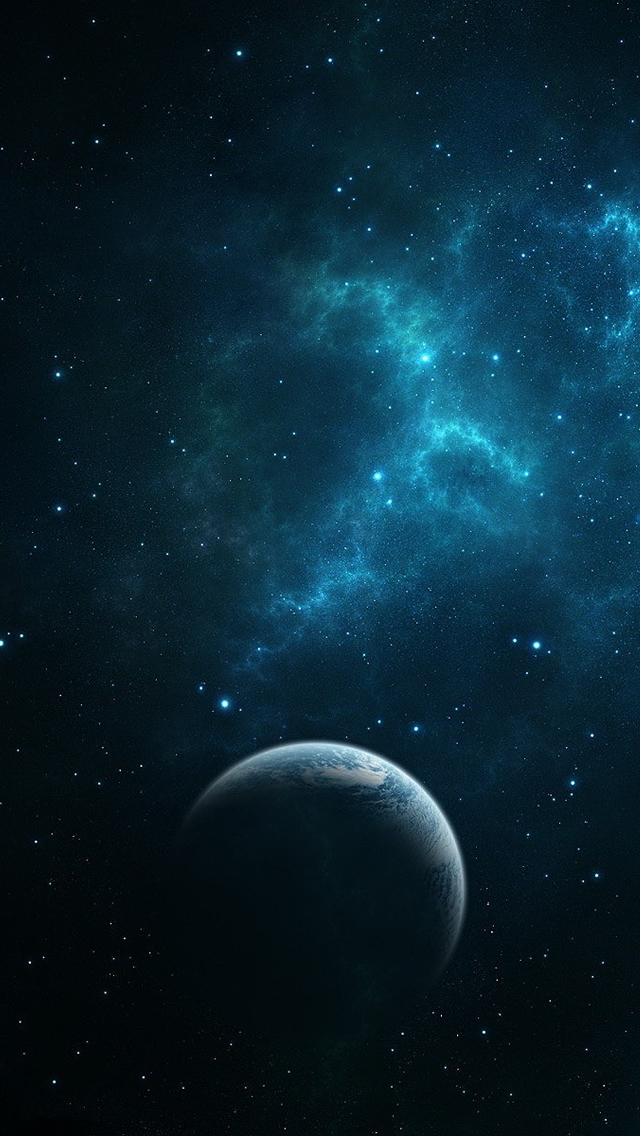 Dark Blue Space iPhone Wallpapers Free Download