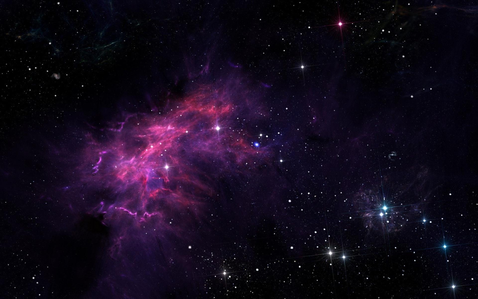 Wallpaper Stars, galaxy, purple light, space 1920x1200 HD