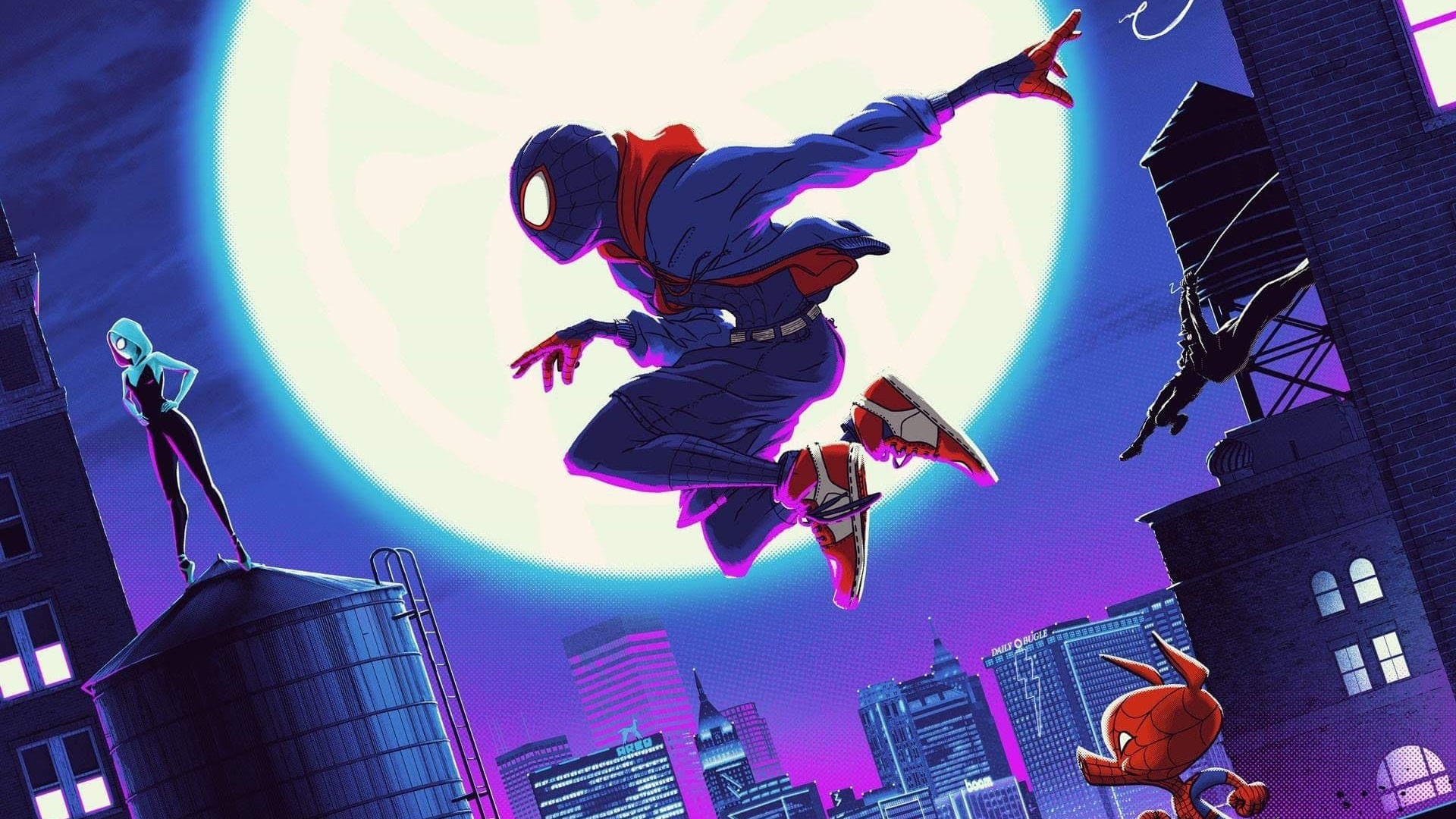 Spider Man Into The Spider Verse Desktop Wallpaper Posted By