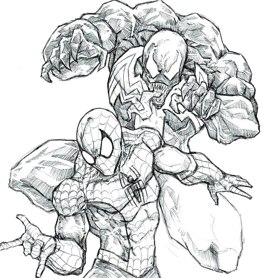 Spiderman Vs Venom Drawing Posted By Ethan Tremblay