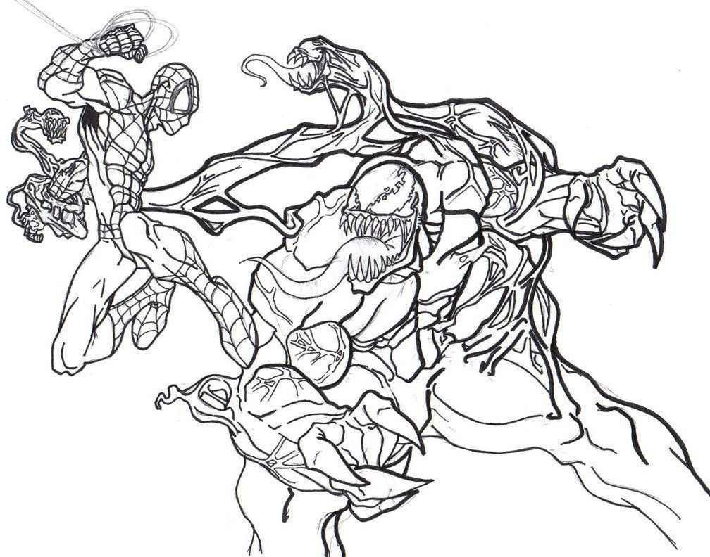 Venom Coloring Pages  – Lowland Seed Anti Venom Versus