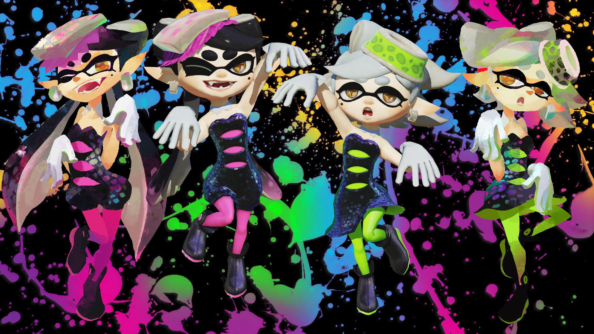Splatoon Squid Sisters Wallpaper Posted By John Simpson
