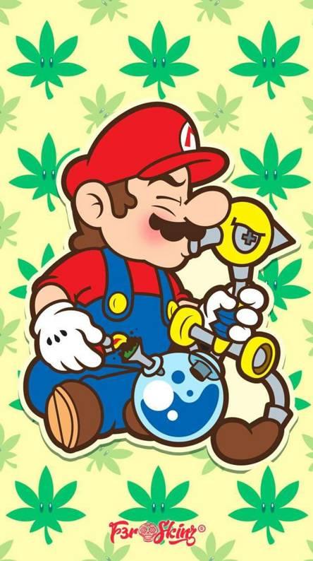 Trippy Weed Cartoon Wallpaper