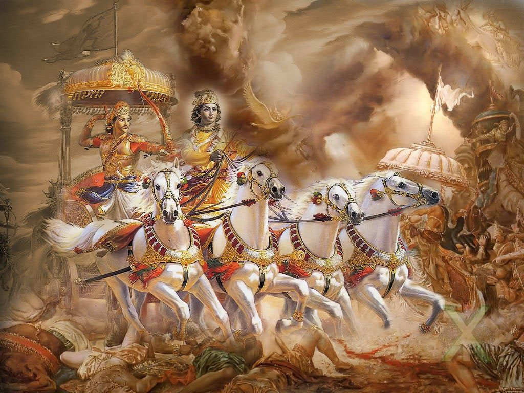 Lord Krishna And Arjuna HD Wallpapers Wallpaper Cave