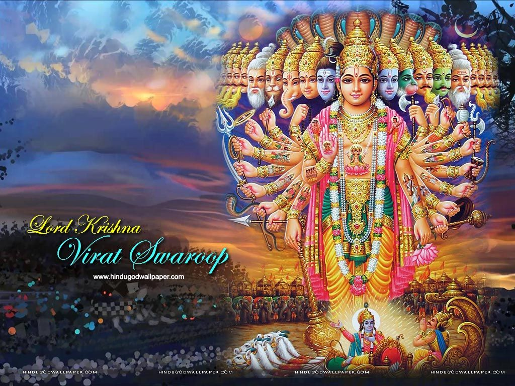 Lord Krishna Virat Swaroop Wallpapers in 2019 Lord krishna