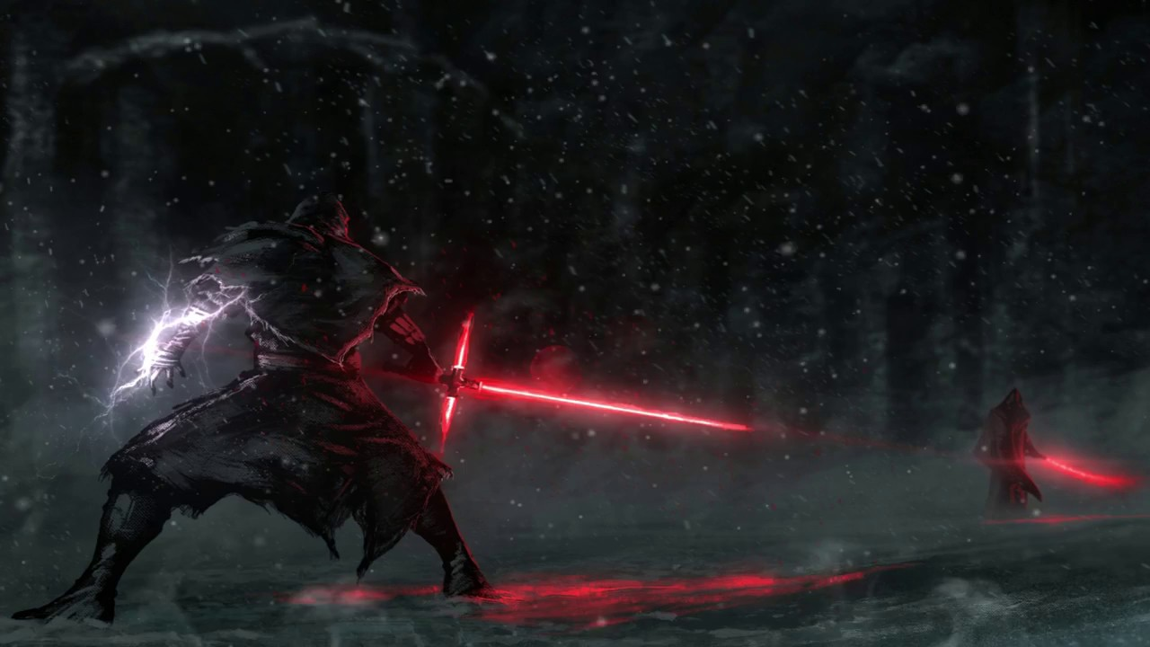 Star Wars Siths about to fight ANIMATED Wallpaper