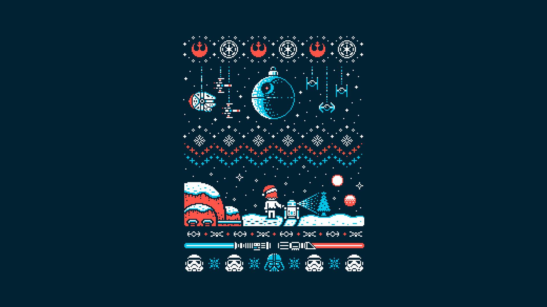 Star Wars Christmas Wallpapers Posted By Ethan Johnson