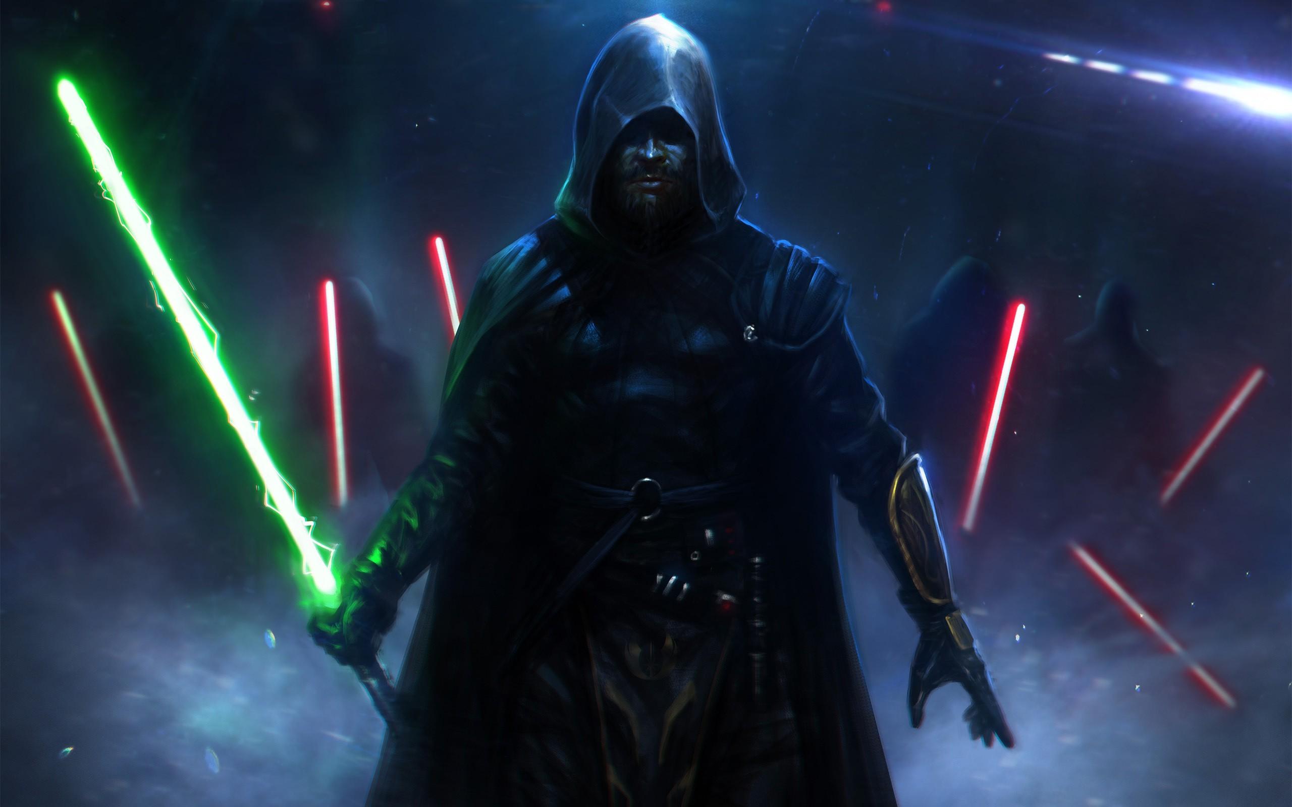Star Wars, dark, lightsabers, Sith, Jedi, fantasy art, fan