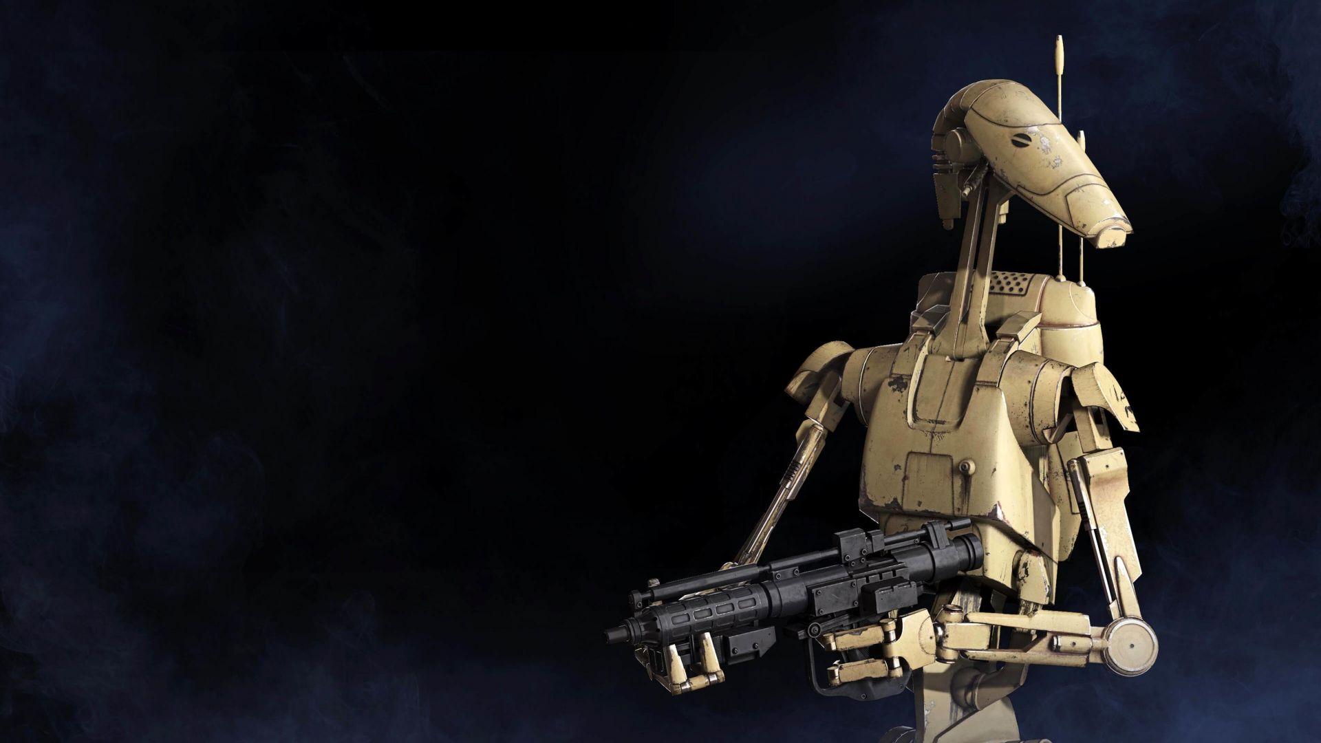 Star Wars Battle Droid 3D Desktop HD Wallpaper