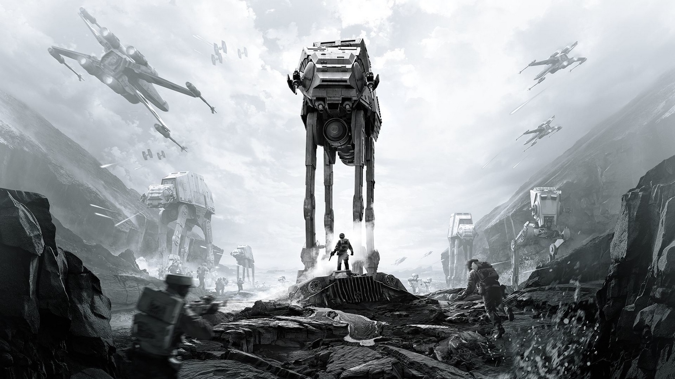Download wallpaper 1366x768 star wars battlefront, ea dice