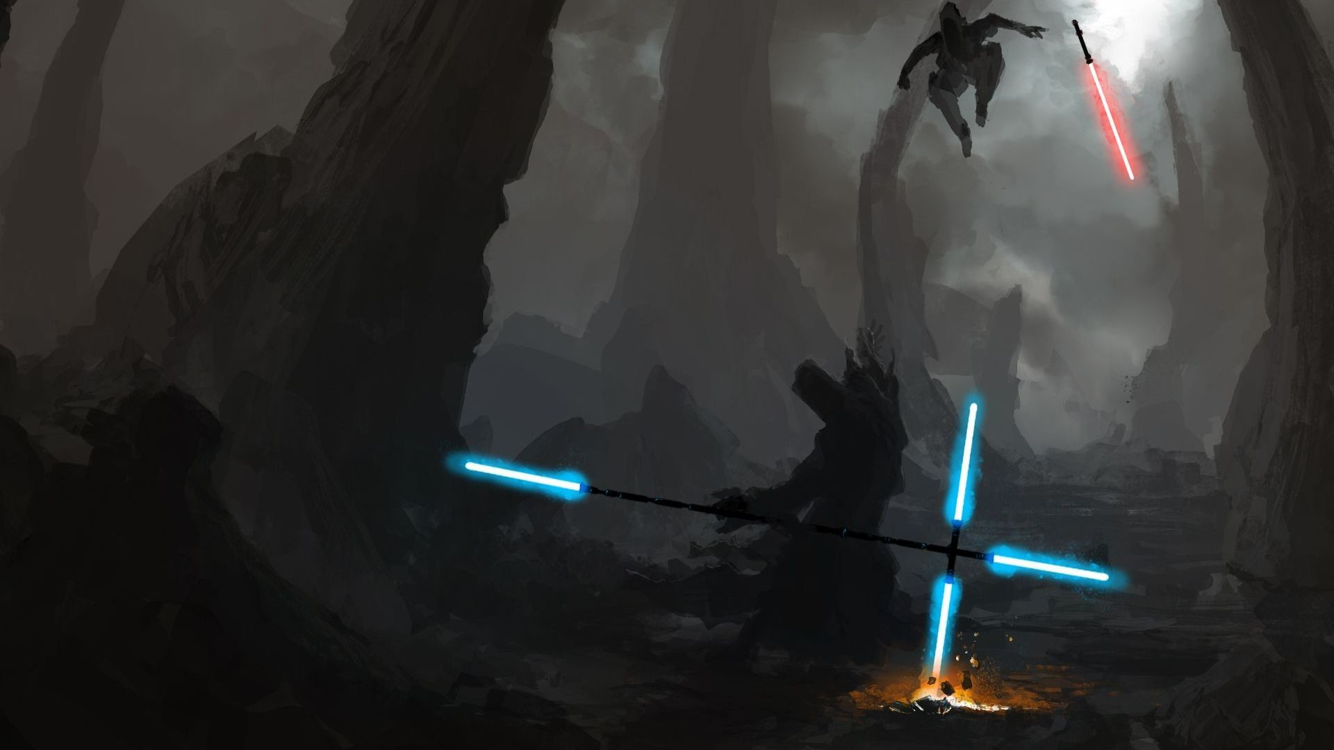 Star Wars Lightsaber Duel Wallpaper Posted By Ethan Mercado