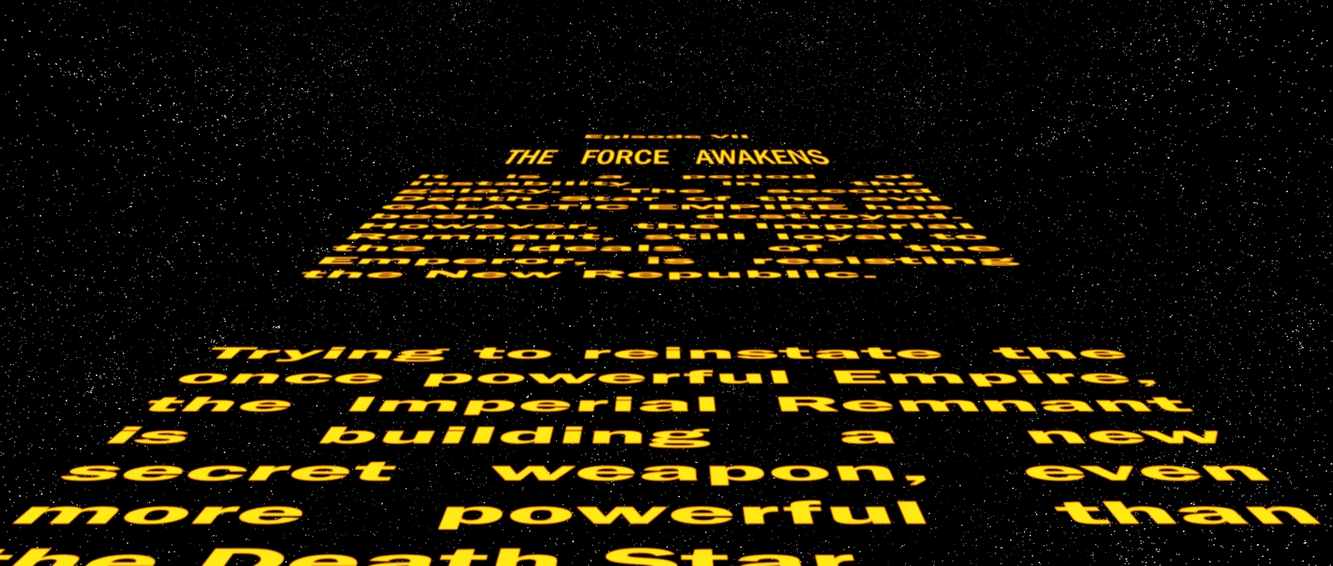 Star Wars Opening Crawl Background Posted By Ryan Cunningham