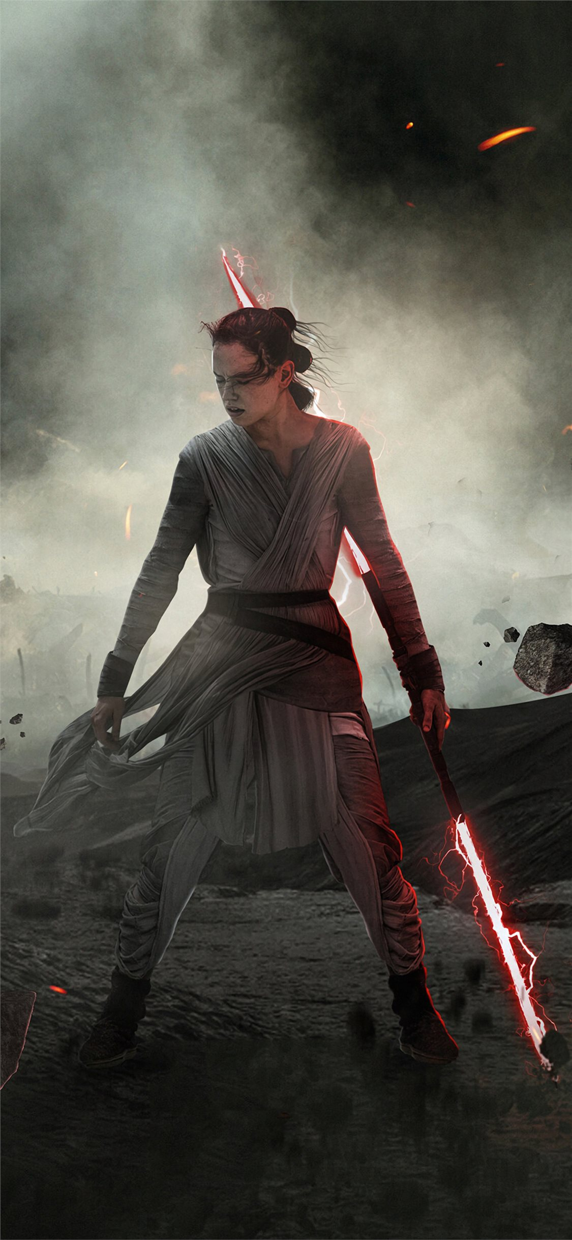 dark rey star wars the rise of skywalker iPhone X Wallpapers