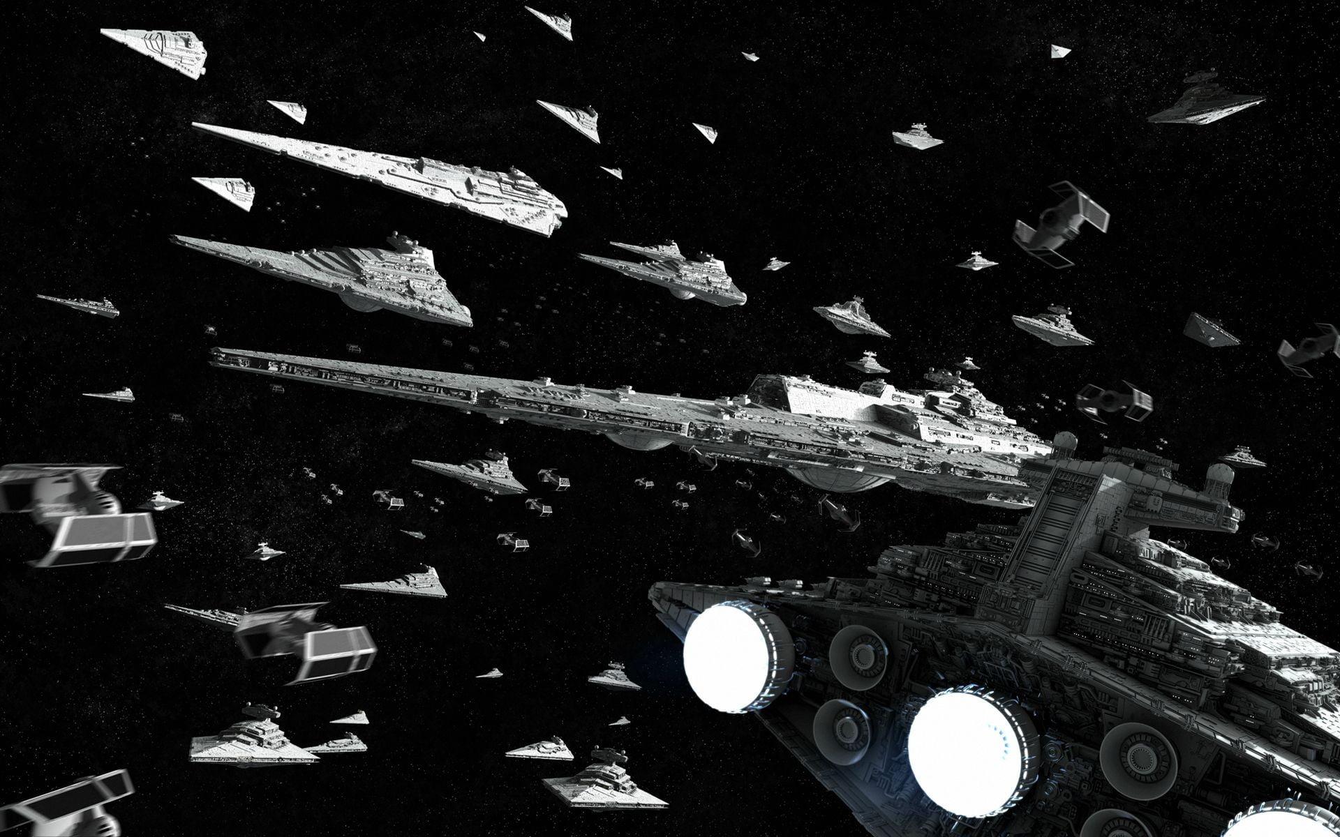 Gray space ships, Star Wars HD wallpaper Wallpaper Flare