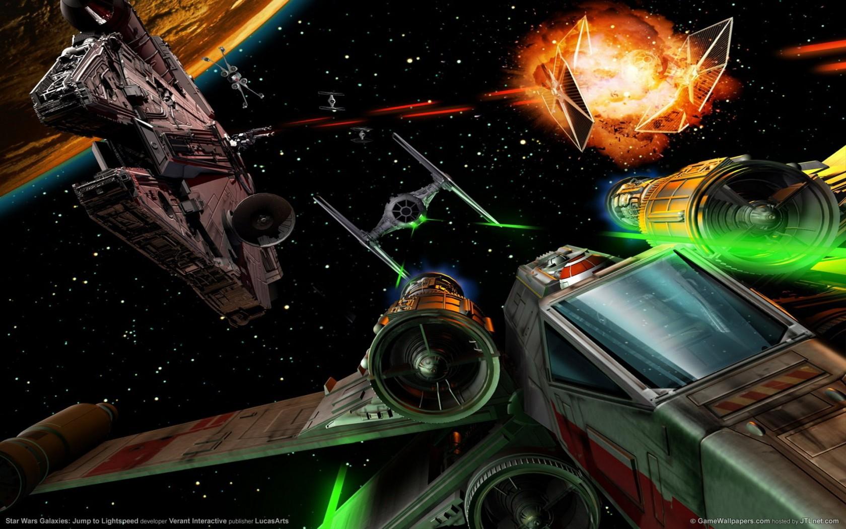 Star Wars Millennium Falcon Space Ship Combat Action