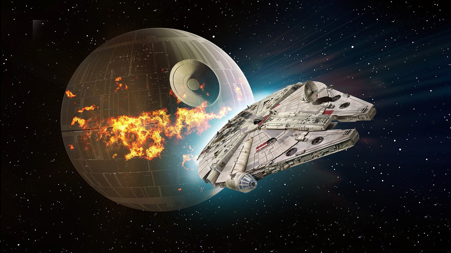 Wallpaper Star Wars, Death Star, spaceship 1920x1200 HD