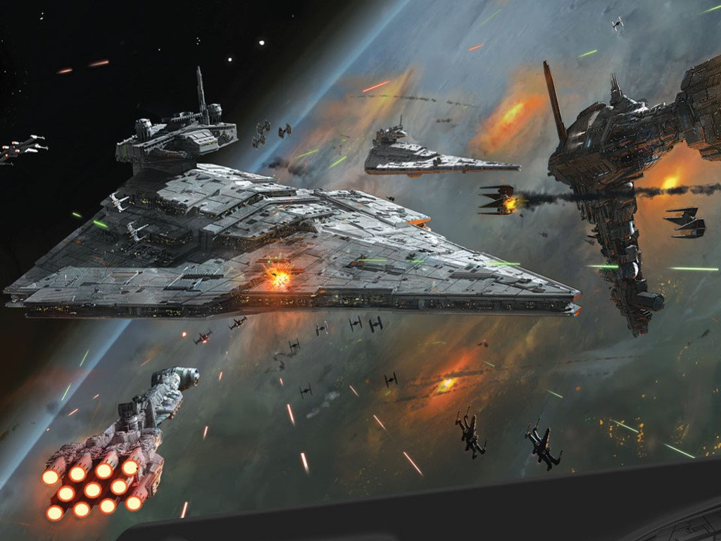 Star Wars Space Battle Wallpaper Posted By Ryan Walker