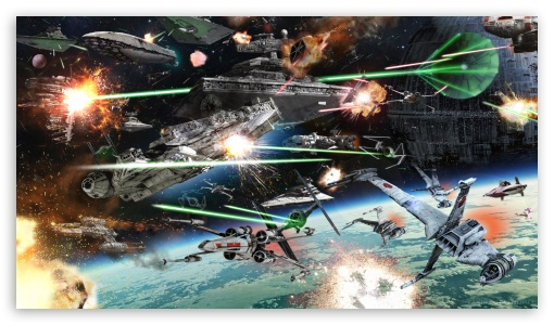 Star Wars Space Battle 4K HD Desktop Wallpaper for 4K