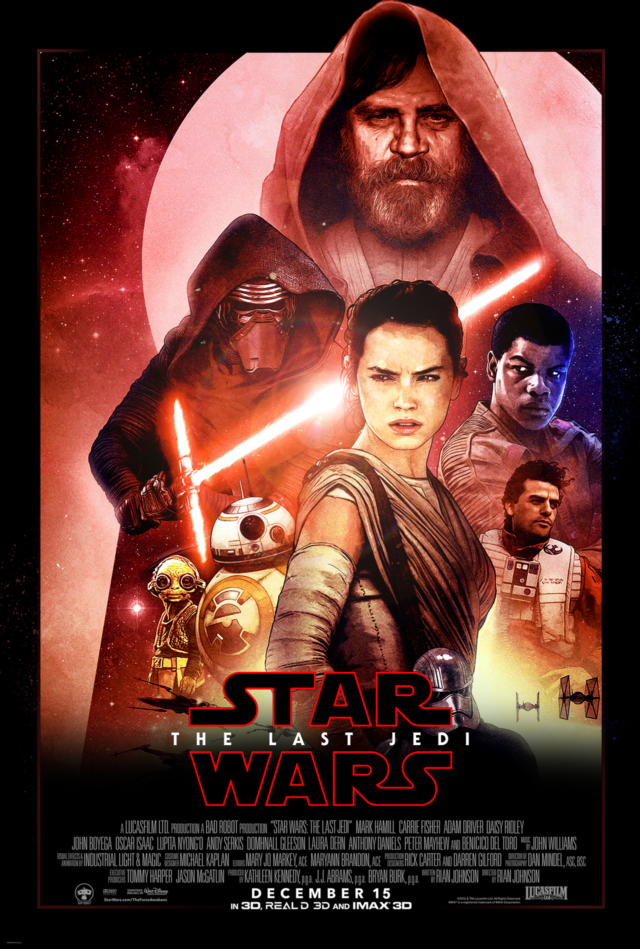 Star Wars The Last Jedi Poster Hd Posted By Zoey Simpson