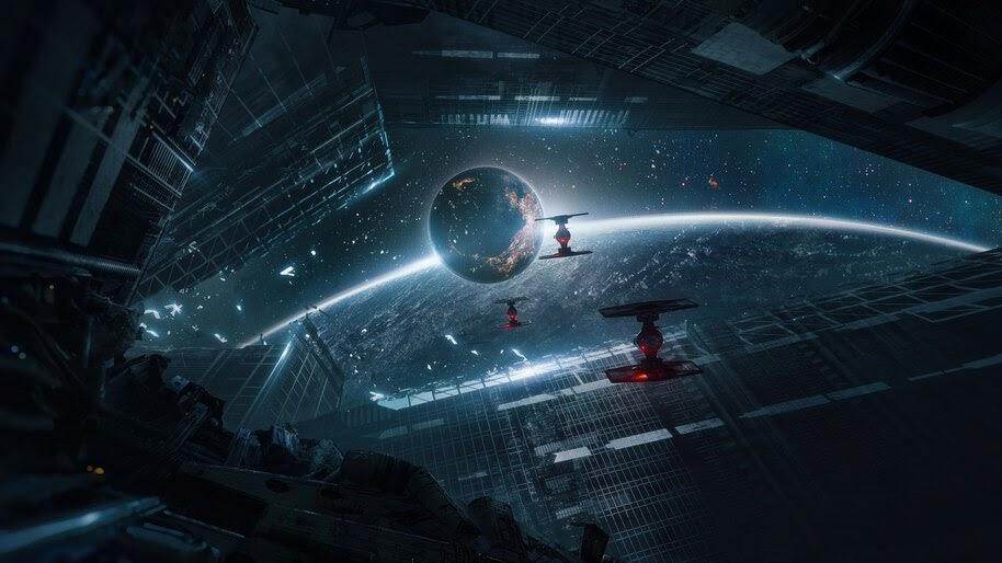 Star Wars TIE Fighter Sci Fi Fantasy Space Planet 4K