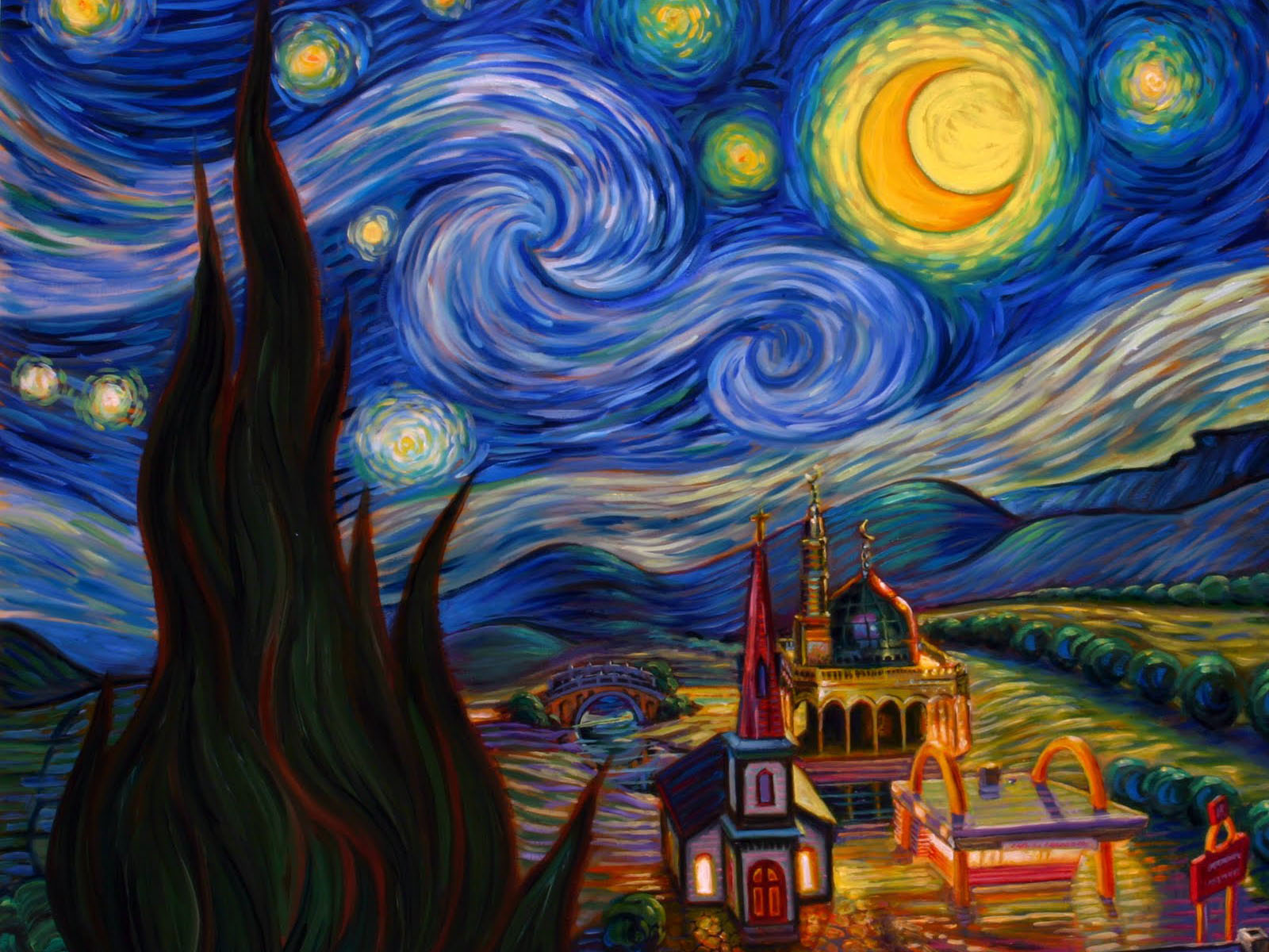 Starry Night Over The Rhone Wallpaper Posted By Christopher Walker