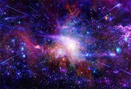 AOFOTO 7x5ft Dreamy Starry Sky Backdrop Cosmic Galaxy Photography Background Universe Nebula Kid Girl Boy Artistic Portrait Photo Shoot Studio Props
