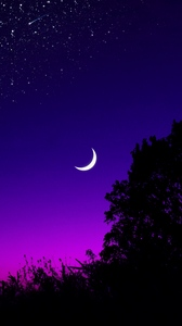 Stars And Moon Wallpaper Posted By Michelle Mercado
