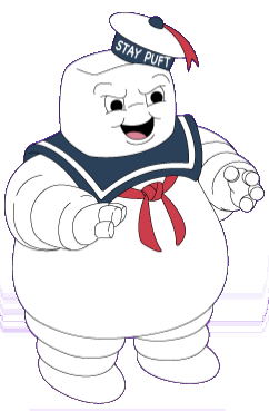 Stay Puft Marshmallow Man from Ghostbusters Coloring Pages ... | 369x242
