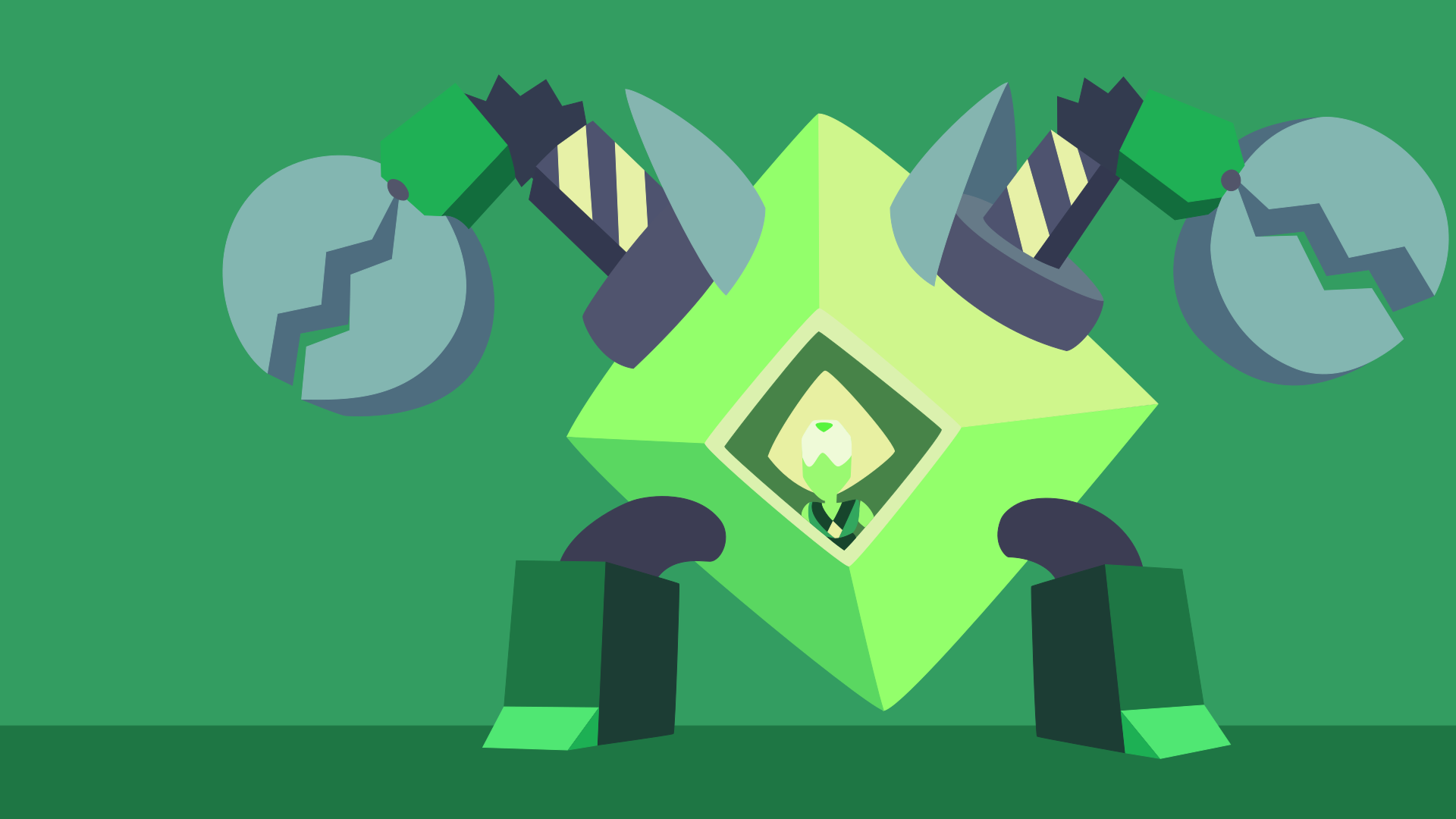 Peridots robot vector wallpaper by CaptainBeans on DeviantArt
