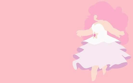 Rose Quartz Minimalist Wallpaper Steven universe