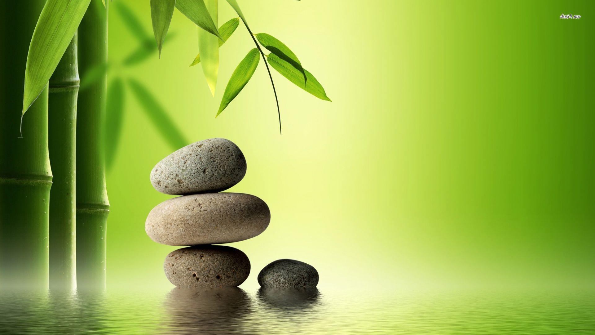 Free download Bamboo Zen Stone Wallpaper hd background hd