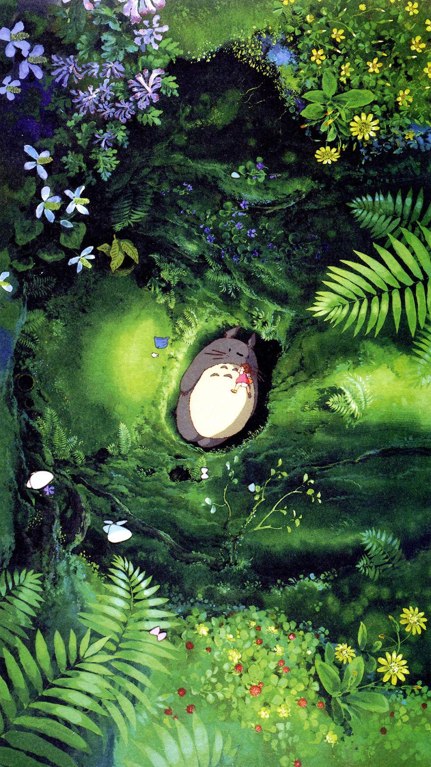 Studio Ghibli Dual Monitor Wallpaper Posted By John Sellers