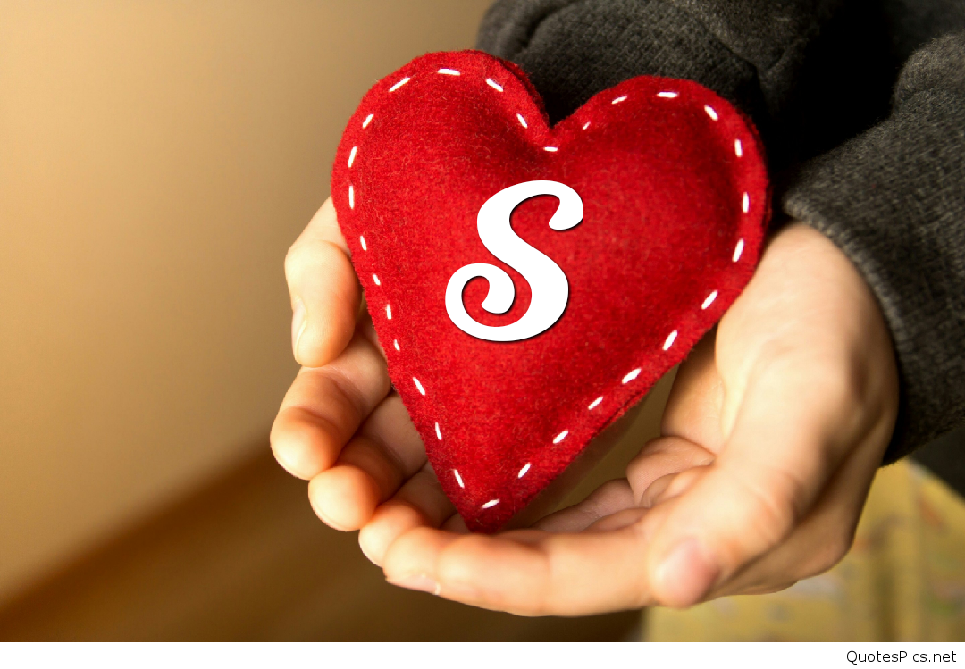 S Letter In Heart Wallpapers S Letter In Heart, Download
