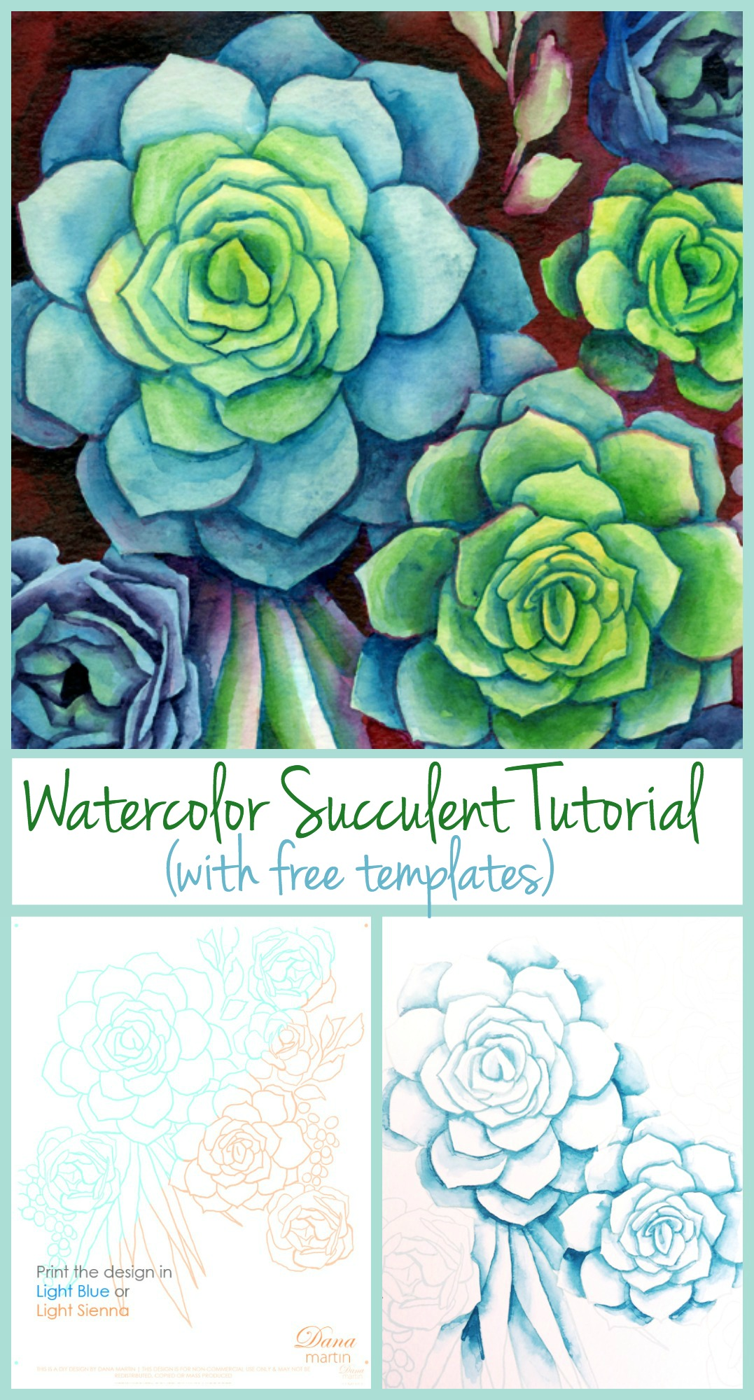 Succulent Watercolor Posted By Ryan Peltier