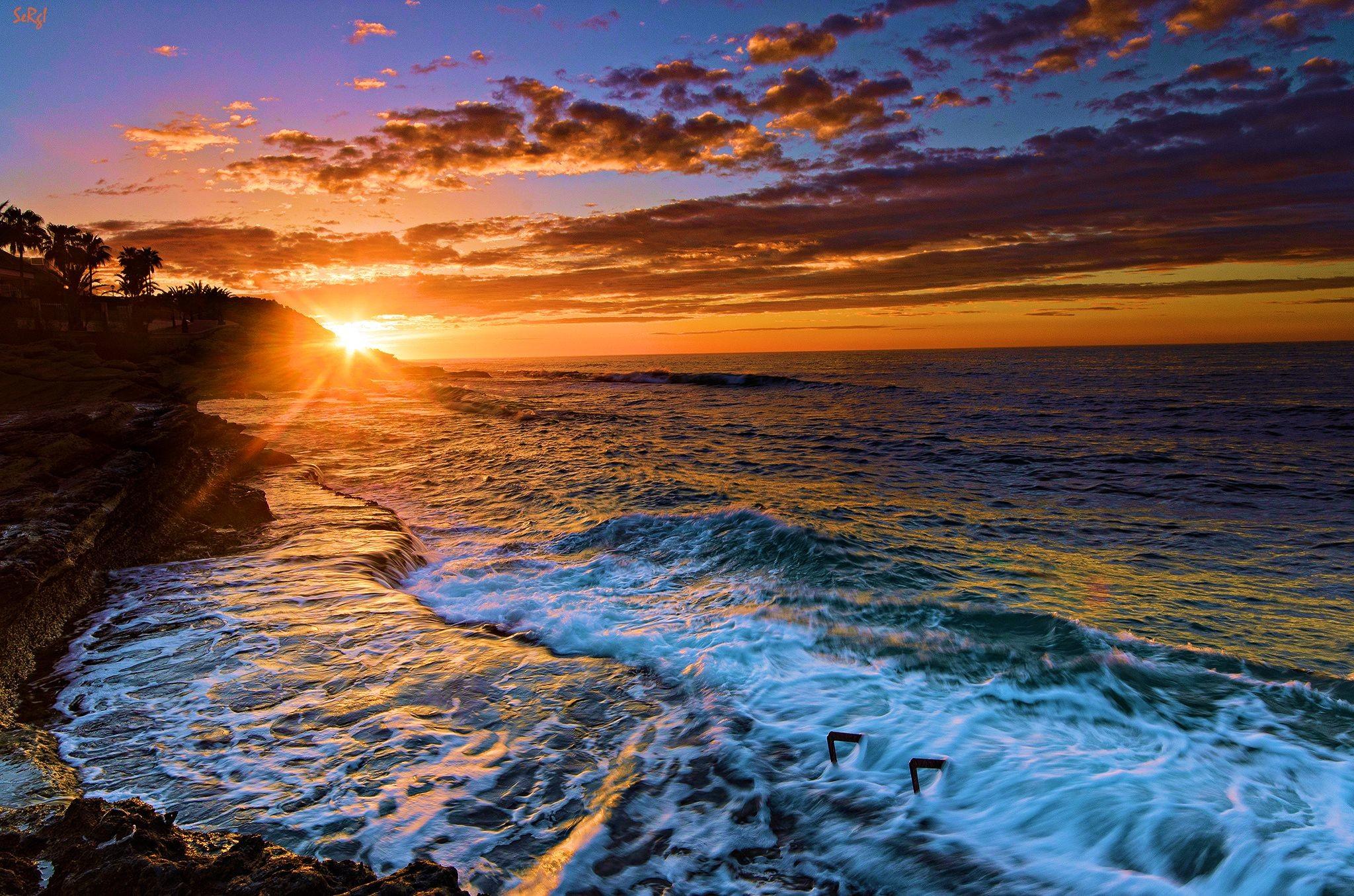 Beach Sunset Desktop Wallpaper 70+ images