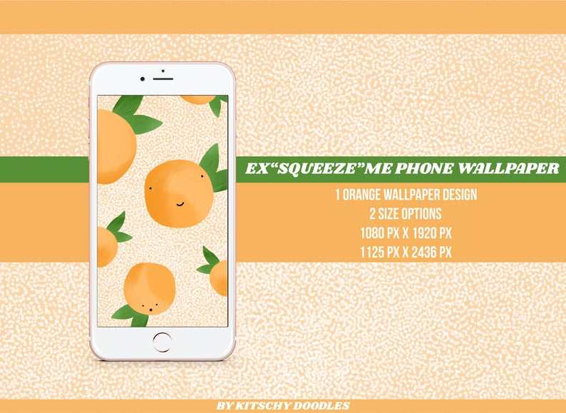 Orange Phone Wallpaper iPhoneSamsung Wallpaper Phone Background Cute Oranges Fruit Orange Lover Fruit Wallpaper Orange Design