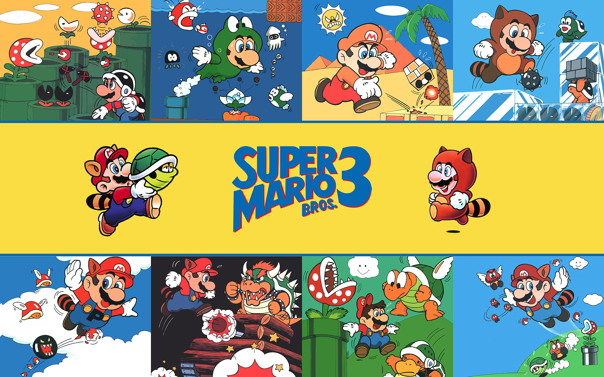 mario bros 3 background