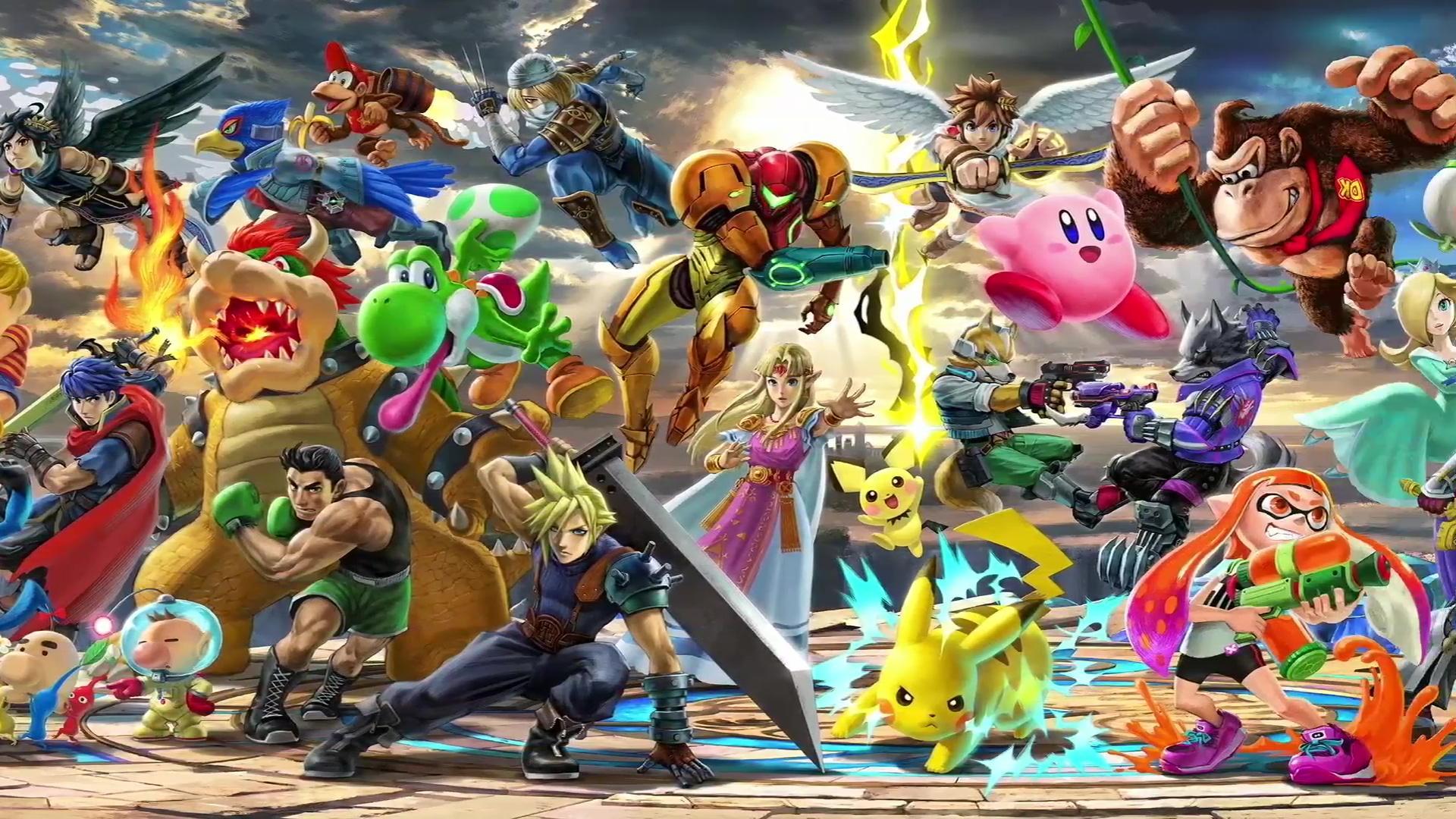 Super Smash Bros Ultimate Desktop Background Posted By Christopher