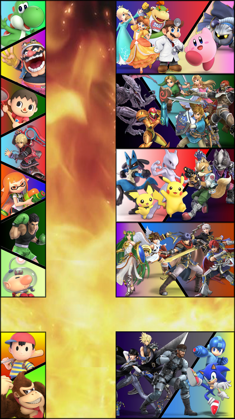 Super Smash Bros Ultimate Phone Wallpaper Posted By Michelle Johnson