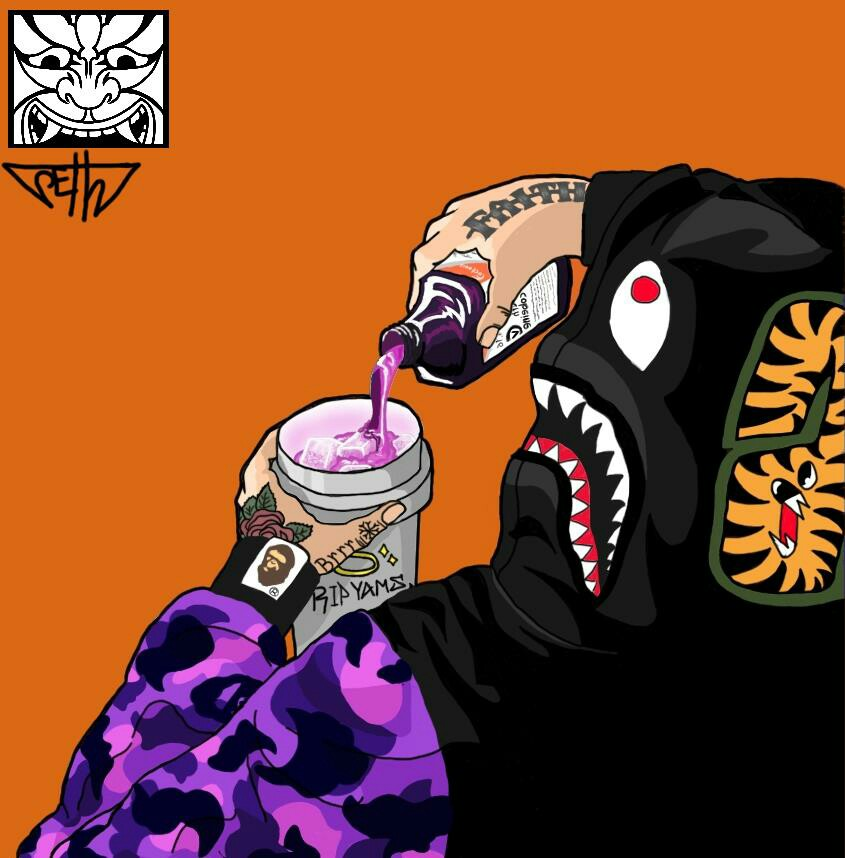 Supreme And Bape Cartoon Wallpaper Posted By Zoey Simpson