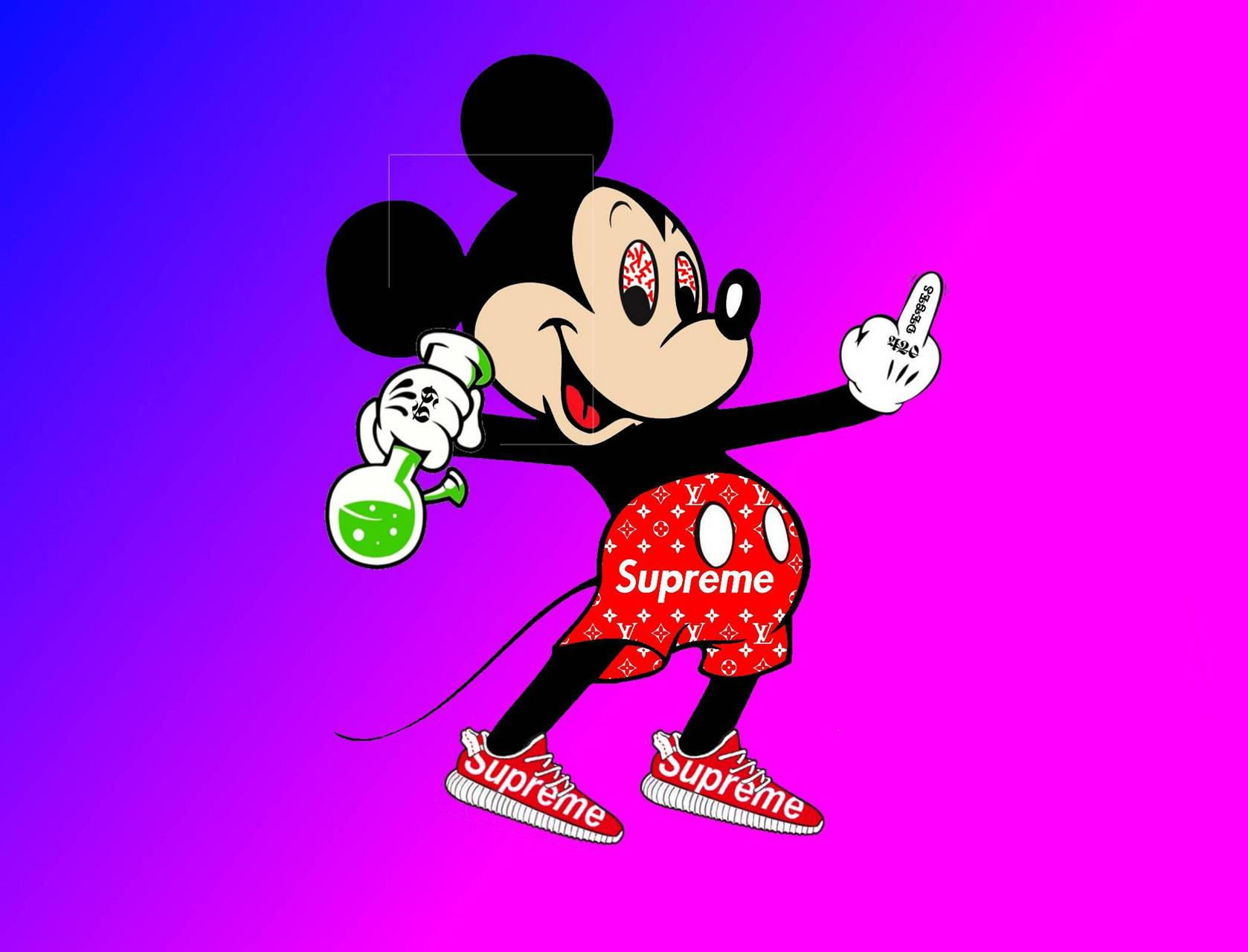 Supreme Mickey Mouse Posted By Ryan Johnson