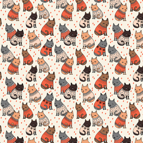 cats in sweaters holiday christmas sweater ugly sweater