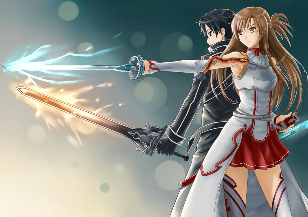Sword Art Online Kirito And Asuna Wallpaper Posted By Sarah Cunningham