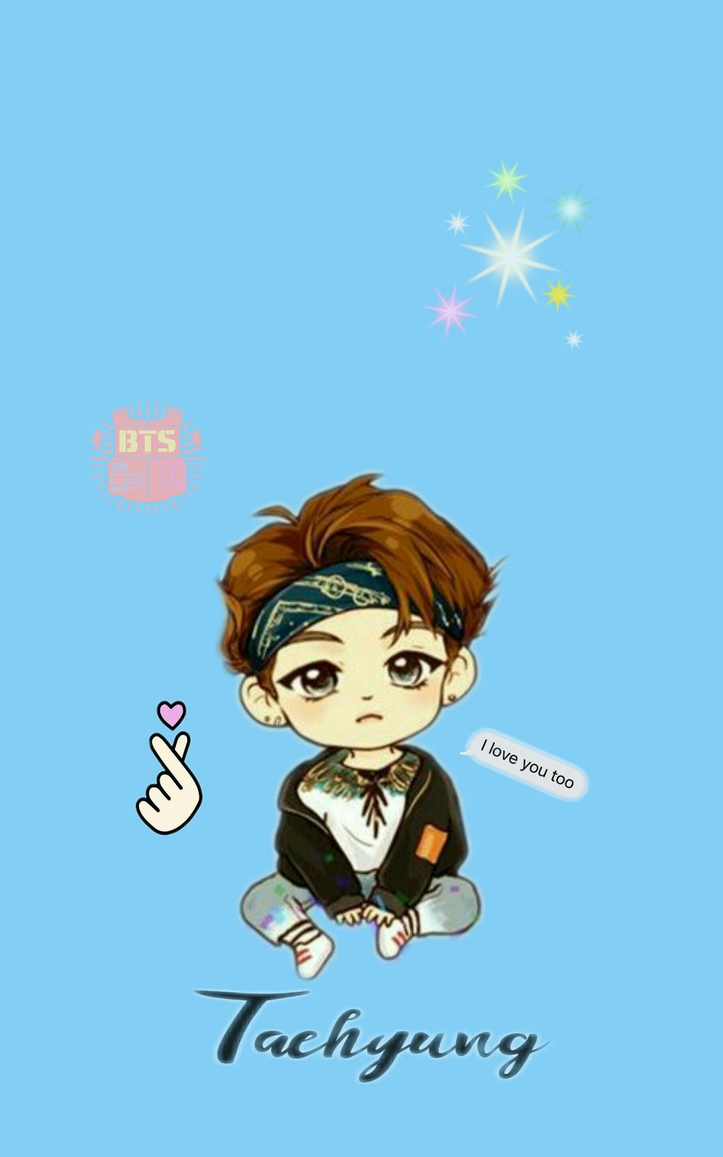 V chibi for phone wallpapera Image by Chen Ailynn