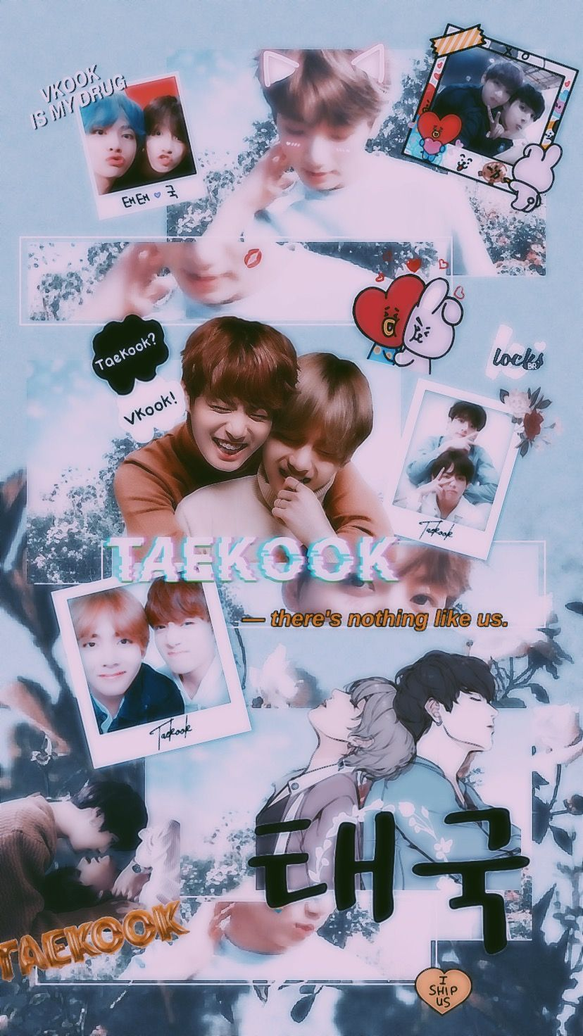 bts taekook vkook wallpaper freetoedit