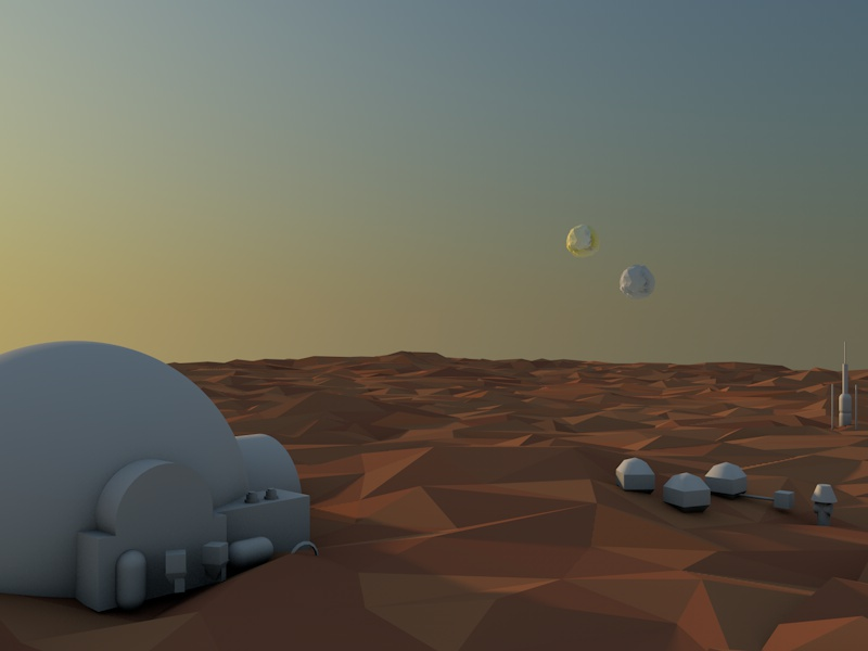 Low poly Tatooine by Andrus Valulis on Dribbble