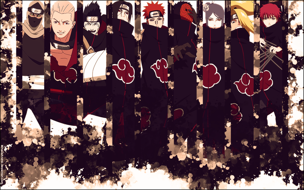 Akatsuki Wallpaper by MihailaAndrei.deviantart.com on