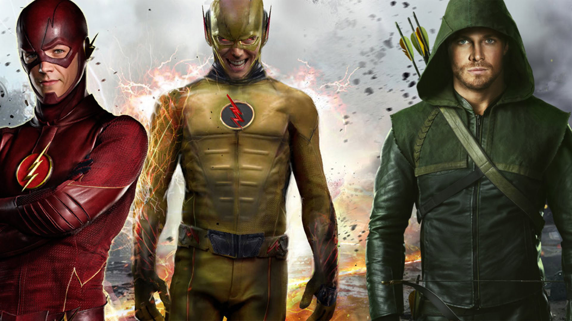 The Flash And Reverse Flash Wallpaper Posted By Ethan Cunningham