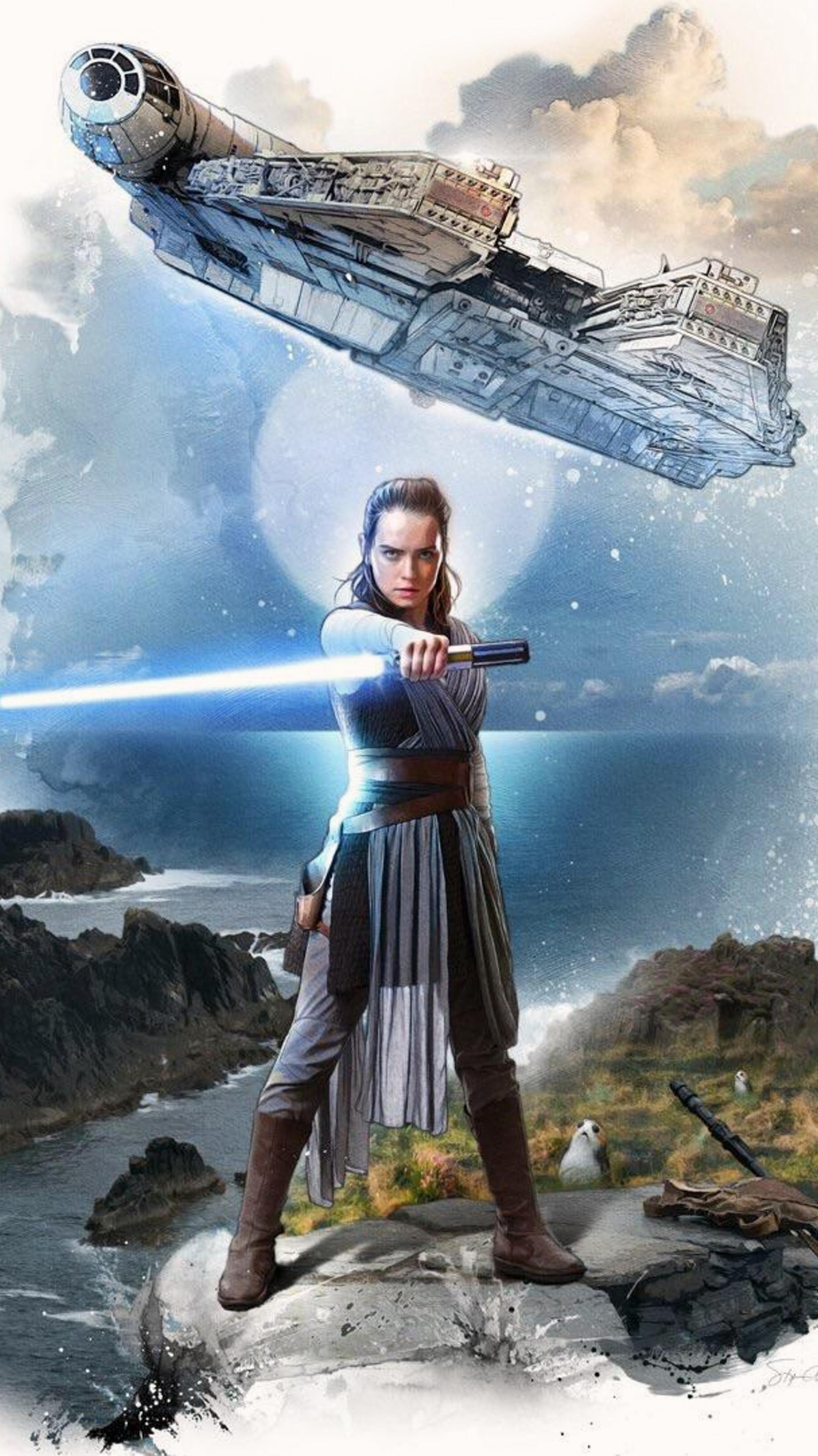 The Last Jedi Rey Wallpaper Posted By Michelle Mercado