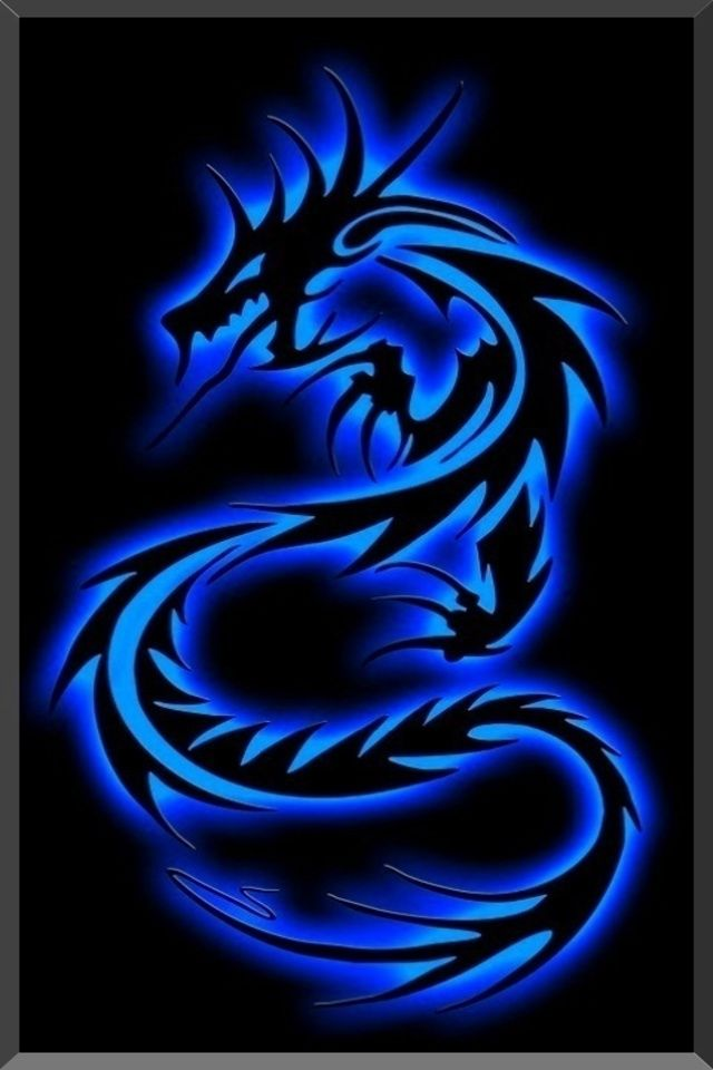 Wallpaper for iPhone Tribal Dragon in 2019 Blue wallpaper